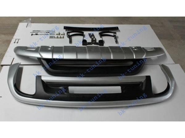 Тюнинговые Накладки на бампер VW Touareg NF