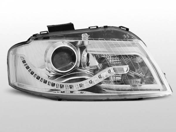 Тюнинговая передняя оптика Audi A3