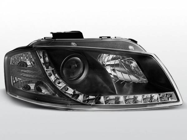 Альтернативная передняя оптика Ауди А3 (чёрные)