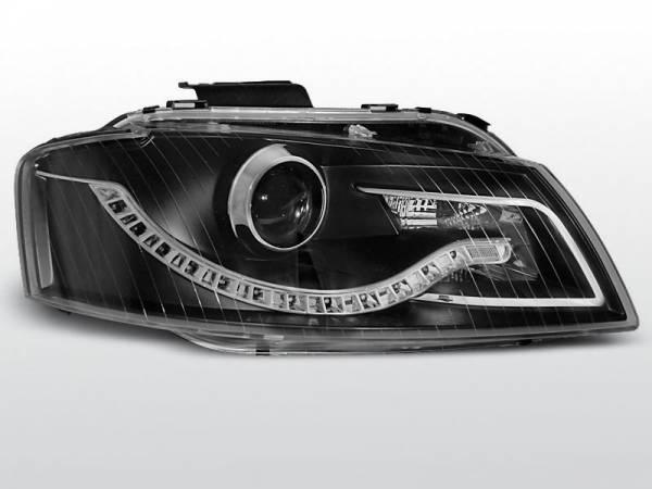 Тюнинговая передняя оптика  Ауди A3 (чёрные)