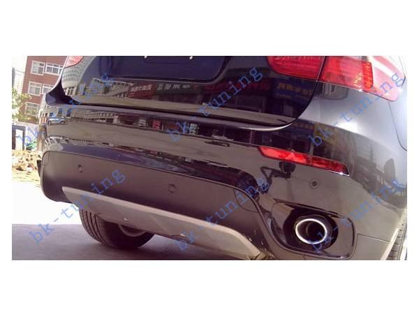 Накладка на задний бампер BMW X6