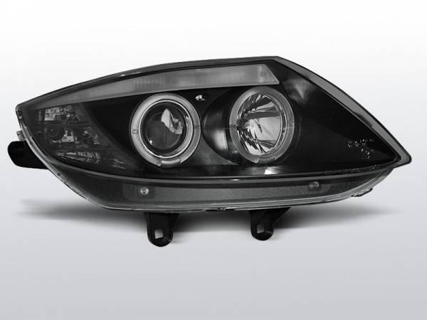 Передние фары BMW Z4 E85 E86 (чёрные)