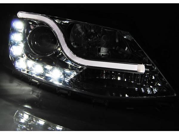 Линзовые фары VW Jetta 6