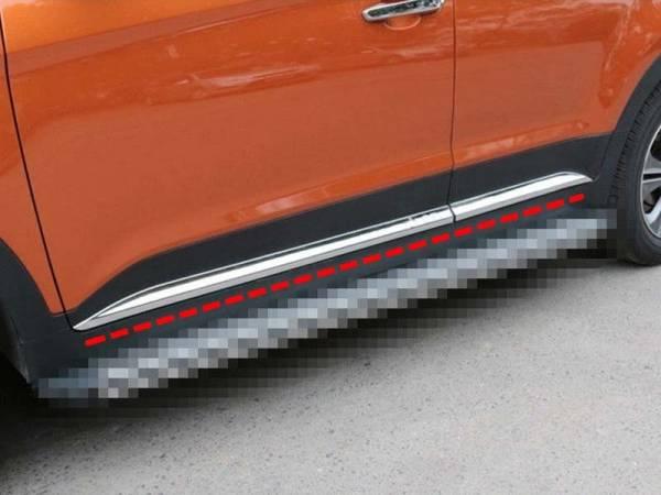 Молдинги на двери Hyundai IX25 (HX-D42)
