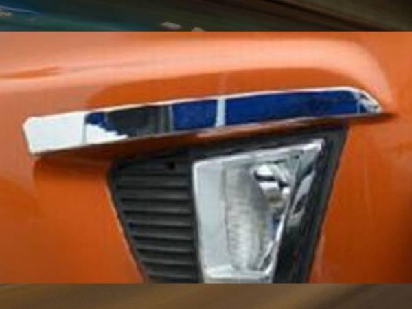 Хром на галогенки Hyundai IX25 (HX-L43)