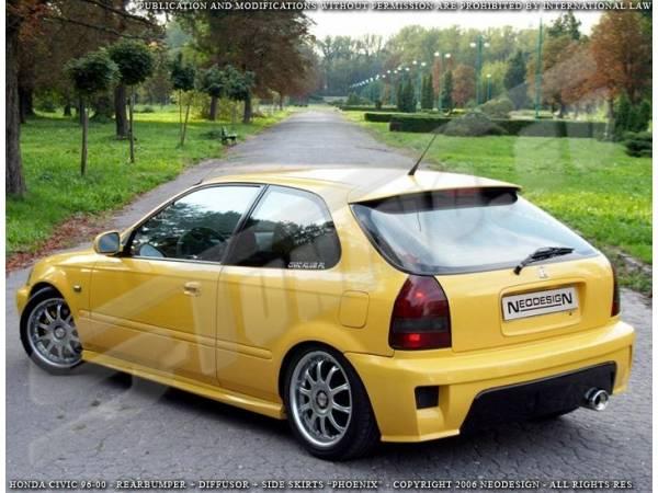 Задний бампер Phoenix тюнинг обвес Honda Civic 96-00