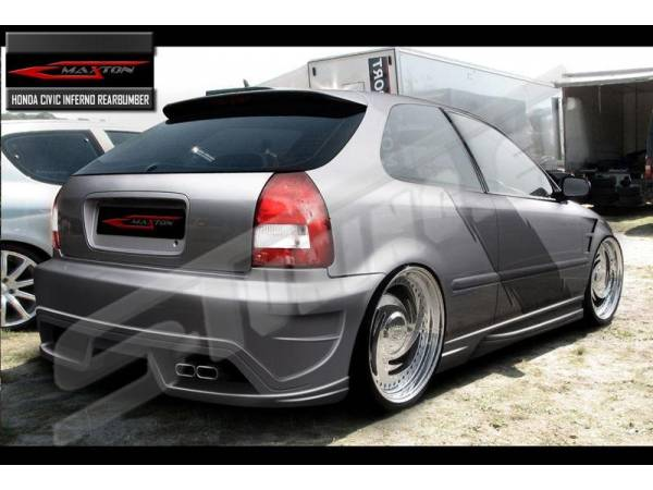 Задний бампер Inferno тюнинг обвес Honda Civic 96-00
